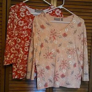 2 shirt Croft&Barrow stretch bundle
